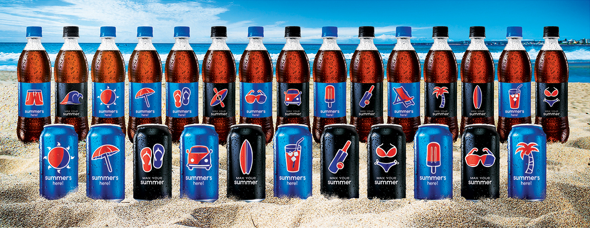 Energi Packaging Design Agency Specialists Creative Inspire Transform Pepsi Max Your Summer Campaign Can Bottle Label Beach