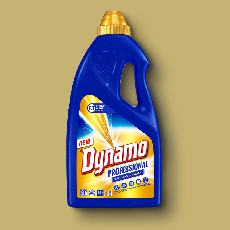 Energi Packaging Design Agency Specialists Label Dynamo Liquid Detergent Stain Removal Product Photography