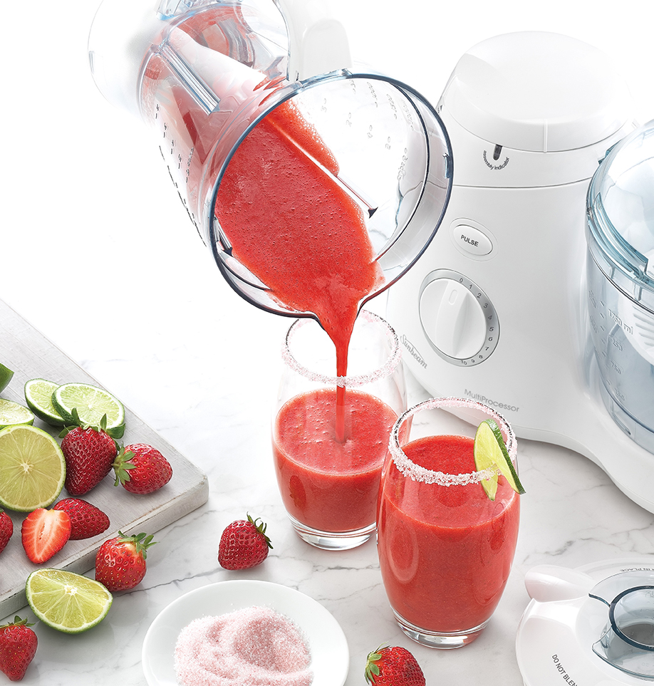 Energi Packaging Design Agency Specialists Product Lifestyle Photography Fresh Fruit Strawberry Lime Sugar Smoothie Healthy Drink Juice Glass Pitcher Blender