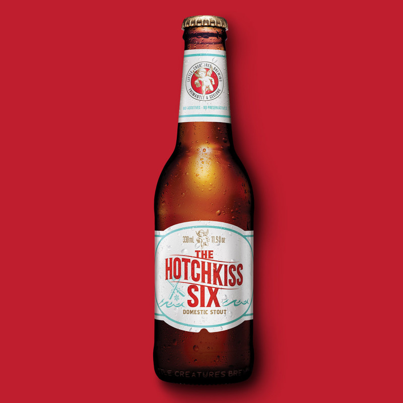 Energi Packaging Design Label Hotchkiss Six Beer Little Creatures Brewing Domestic Stout Product Photography