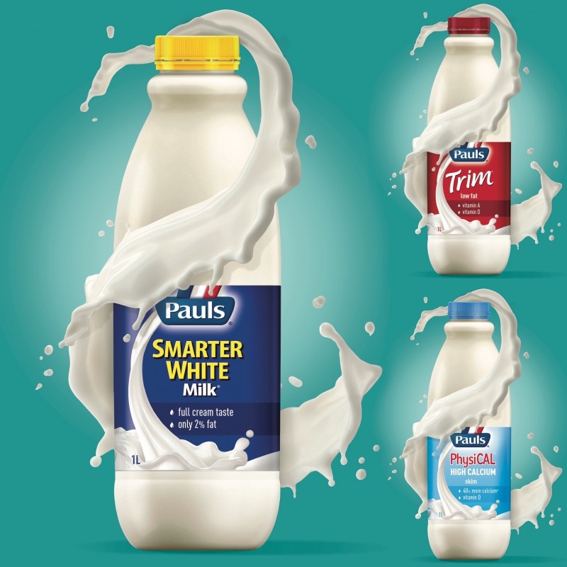 Brand architecture and design for Pauls milk