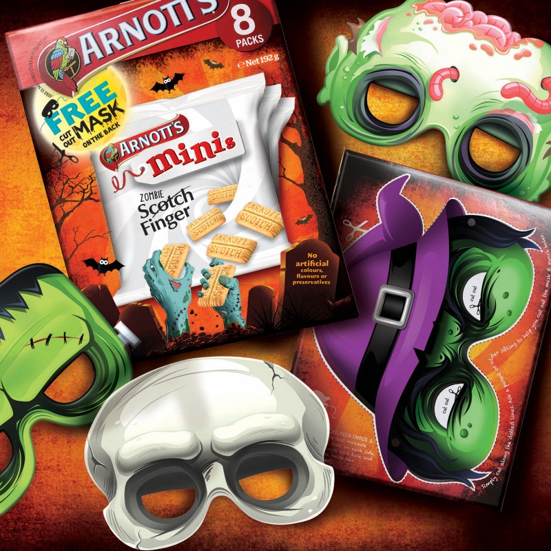 Helping Arnott's develop some exciting Halloween packaging! Look out for them on shelf.