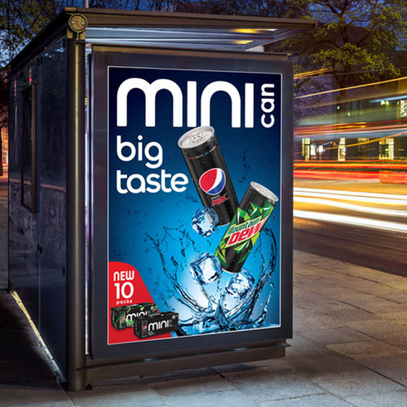 Energi Design Pepsi Minis POS for New Zealand.